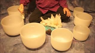 Crystal Bowl Chakra (70 Min.) Meditation C to B ~ Low to High Tones