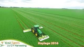 Yost Farm CY Harvesting Haylage 2016