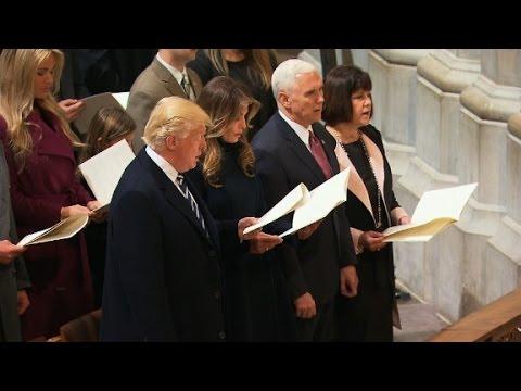 Trump attends national prayer service