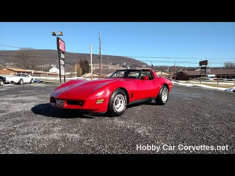 1981 Red Red Corvette Hot Rod For Sale Video