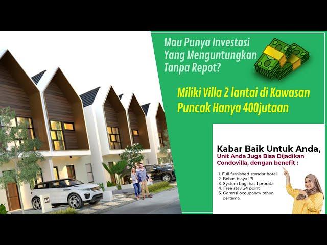 Investasi Villa Di Puncak Desain Modern Fasilitas Smart Home