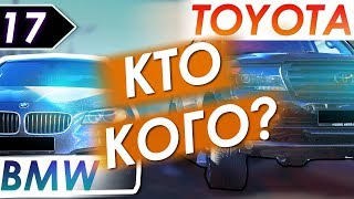 Уличные гонки. Toyota Land Cruiser 200 vs BMW 5