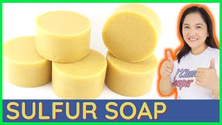 Easy To Follow Sulfur Soap Making | Cold Process Medicated Sulfur Soap For Pimple, Acne Home Made