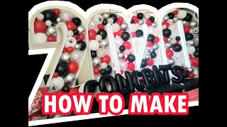 2020 Mosaic Balloon Numbers - How To Print / Make Tutorial - Graduation Party Decoration
