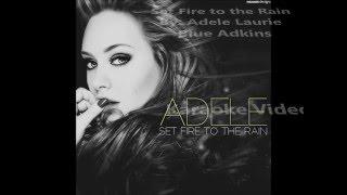Adele - Set Fire to the Rain - Karaoke Video