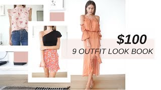 $100 Summer Style Challenge | 9 Outfit Lookbook