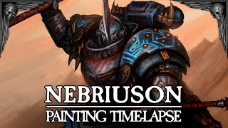 Nebriuson The Black Water Jaw, Warhammer 40,000 - Painting Time-lapse