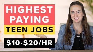 12 Highest Paying Teen Jobs ($10-$20/hr)