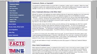 Trademarks - 3 Getting to Know USPTO gov website
