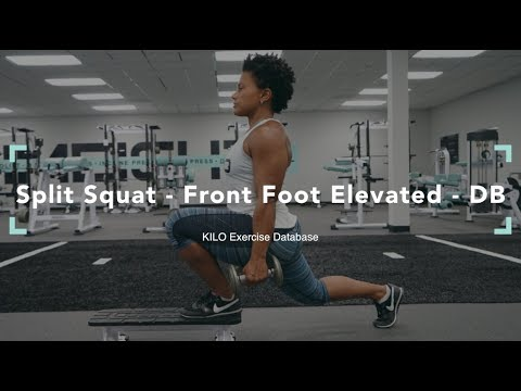 Elevated Front-Foot Barbell Split Squat