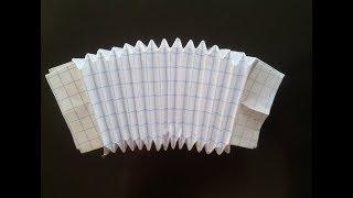 Как сделать гармошку оригами, How to make an origami accordion