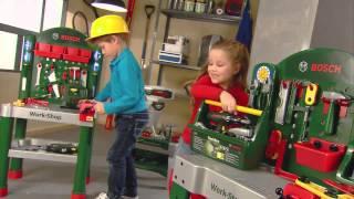 Vaikiškas darbastalis su priedais 79 vnt | Bosch | Klein 8320