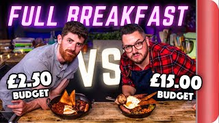 FULL BREAKFAST BUDGET BATTLE | CHEF (£2.50p/portion) vs NORMAL (£14.00p/portion!!!) by SORTEDfood