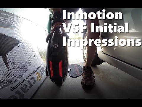 First impressions, first ride Inmotion V5F Electrc Unicycle