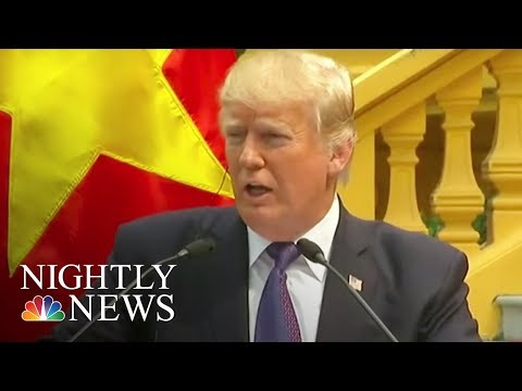 President Donald Trump Goes Off-Script as He Wraps Up Asia Trip | NBC Nightly News