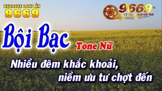 Karaoke Bội Bạc   Tone Nữ | Nhạc Sống KLA | Karaoke 9669