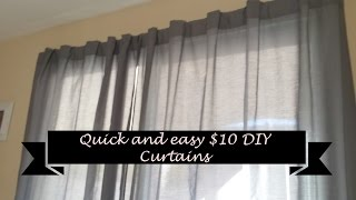 How To Make Quick And Easy DIY Curtains For $10