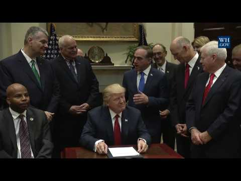 President Trump Signs the Veterans Choice Program Extension and Improvement Act