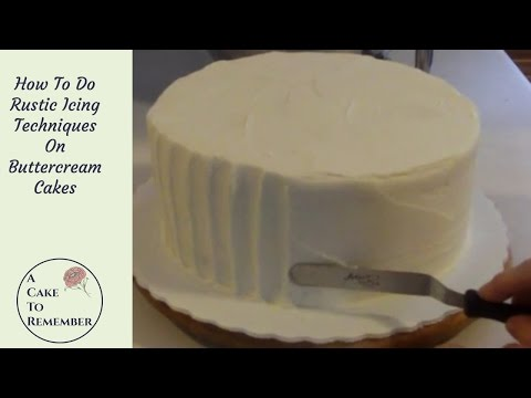 How to ice a cake using rustic icing. Cake decorating tutorial for beginners, rustic wedding cakesc