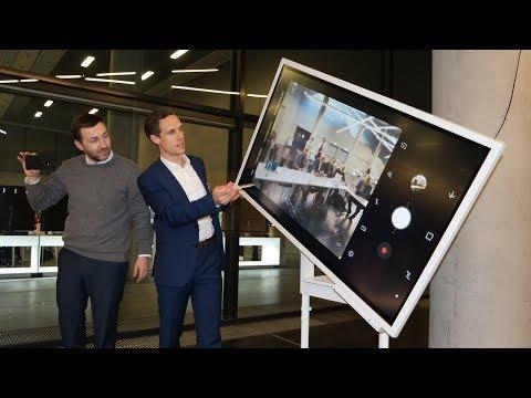 Samsung Flip im Einsatz, digitales Whiteboard