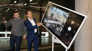 Samsung Flip im Einsatz, digitales Whiteboard/Flipchart WM55H