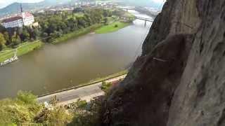 preview picture of video 'CK Galbytour - Ferraty Děčín Pastýřská stěna  4.10.2014  GoPro HD Hero 3'