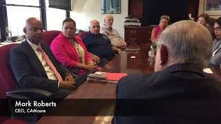Menendez Holds Roundtable with NJ Health Center Leaders Wrestling with Potential 70% Funding Cuts