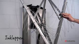 Hoe monteer je een Brabantia WallFix wanddroger