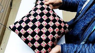 कुशन कवर का बहुत ही सुंदर डिजाइन    Very Beautiful Cushion Cover Cutting And Stitching In Hindi