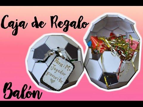 BALÓN DE FÚTBOL / CAJA DE REGALO