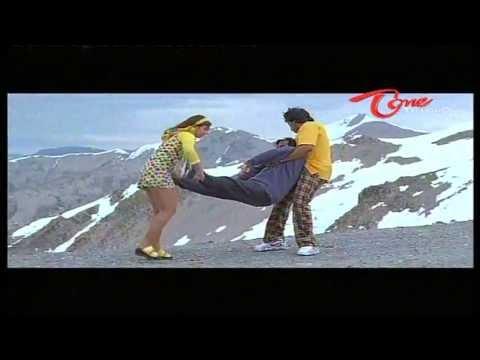 Chiranjeevi & Rambha Throws Brahmanandam From Mountain - NavvulaTV