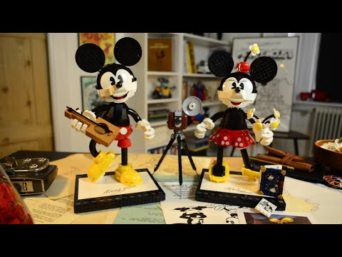 Vidéo LEGO Disney 43179 : Personnages à construire Mickey Mouse et Minnie Mouse