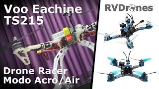 Voo Eachine TS215 - Drone Racer em Modo Acro