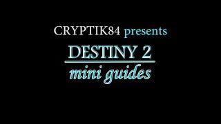 Destiny 2 - Mini Guides - Arcology Reclaimer - Titan
