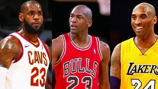 LeBron James Meets Michael Jordan and Kobe Bryant