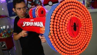 NERF WAR: CRAZY SPIDER-MAN NERF GUN MOD