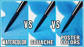 Whats The Difference Between Watercolor & Gouache & Poster Colors?
