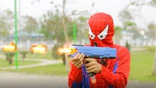 Superheroes Action Spiderman vs Superman | NERF GUN WAR SUPERHEROES | NERF WAR FOR KIDS
