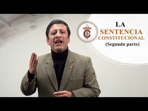 LA SENTENCIA CONSTITUCIONAL (SEGUNDA PARTE) Tribuna Constitucional 66 - Guido Aguila Grados