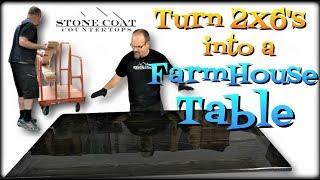 Turn 2X6s Into A FarmHouse Table