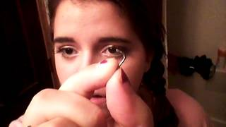 Easy way to put in an L shaped nose piercing