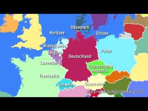 Europa im Überblick - der Westen - Deutschland - viele Nachbarn, große Städte