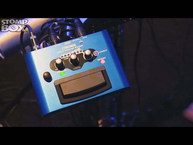 Boss VE-1 Vocal Echo & Reverb Effects Processor Pedal Demo at Namm 2015