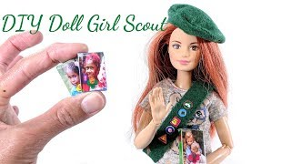 DIY Miniature Girl Scout Cookies, Sash, And Beret