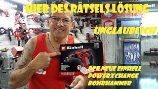 Einhell Akku Bohrhammer TE-HD 18/12 Li Unboxing und erster Test #einhellharry #powerxchange