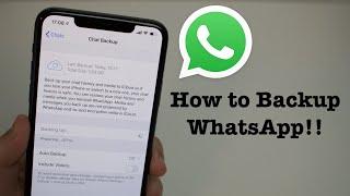 iPhone WhatsApp Backup - All Issues Fixed!!
