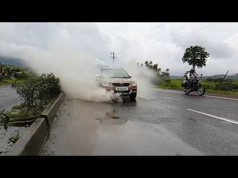 Slow motion of flash water by car vidio by SairamMukte