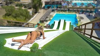 MEGA WATERSLIDE LAUNCH RAMP! 100ft+