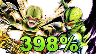 Double Saibamen 398% Showcase! || Dragon Ball Legends