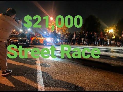 1503 SUPRA vs 714 GTR $21,000 Street Race